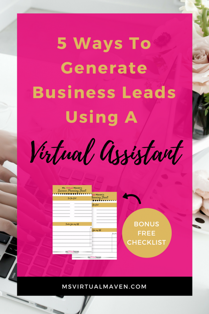 Generating business leads will lead to more sales and growth for your business. Check out these tips on hiring a quality Virtual Assistant to grow and increase revenue and meet your goals.