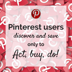 Pinterest is perfect for entrepreneurs. Pinterest Users are more apt to act and buy purchases. based on searches.
