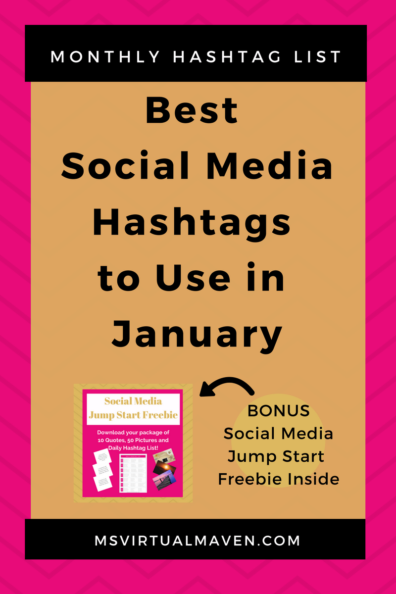 Creating content for social media is difficult enough without trying to figure out which hashtags are appropriate for this month. Here's a list of the best hashtags to use for January.