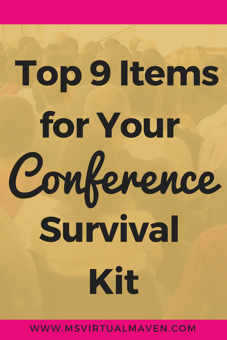 Even though conferences are exciting and information packed, you need a conference survival kit to get you successfully through the many hours of socializing and networking.Here are the 9 items you need to survive your next conference.