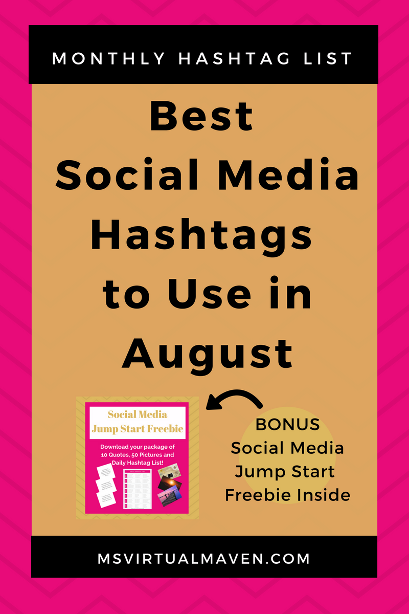 August is the time of the year for back to school and enjoying the last days of summer. Check out the best social media hashtags for August!